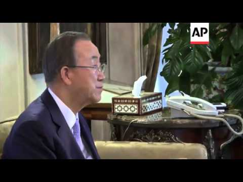 UN secretary-general in Cairo for Gaza ceasefire talks, meets Egyptian FM