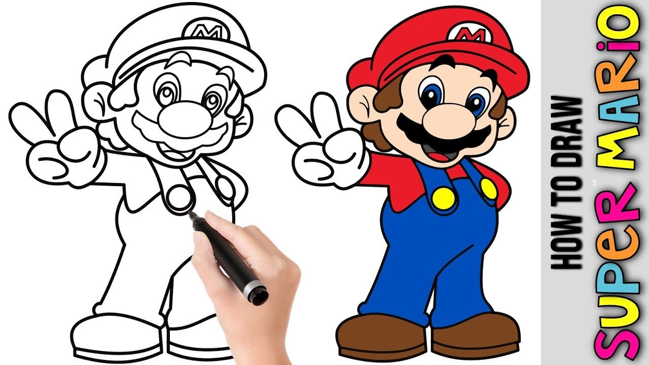 It's just a picture of Gratifying Easy Mario Drawing