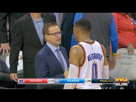 Scott Brooks and Russell Westbrook asked about their exchange