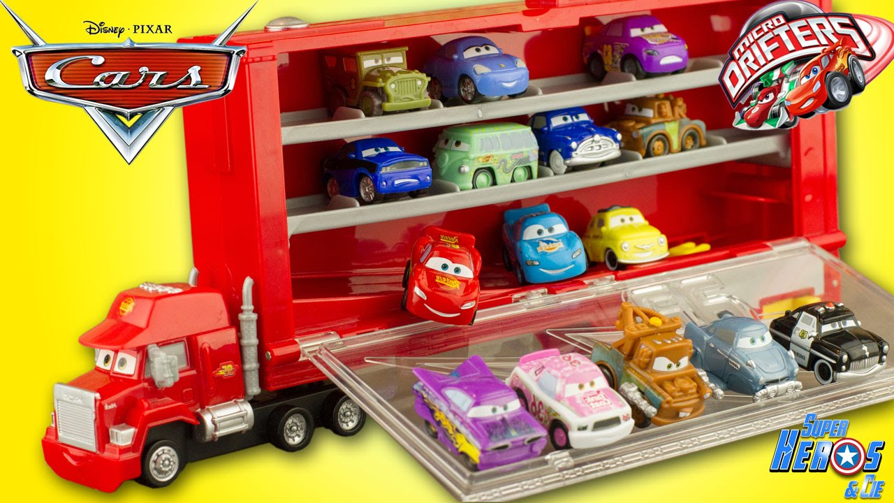 disney cars mack truck camion micro drifters flash mcqueen jouet les bagnoles toy review youtube. Black Bedroom Furniture Sets. Home Design Ideas