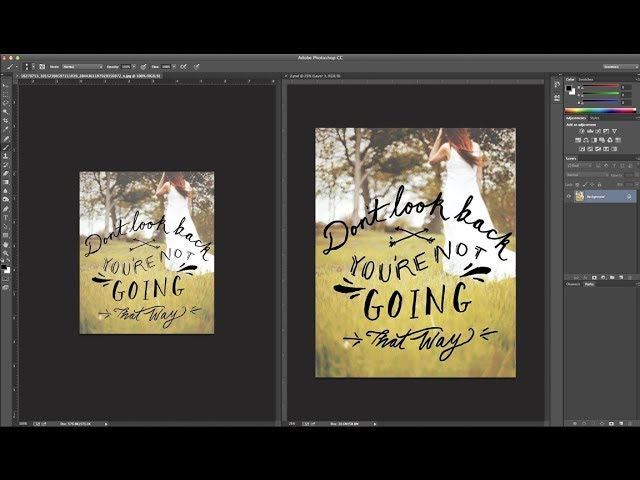 How To Enlarge A Low Resolution Image For Print Using Photoshop Youtube
