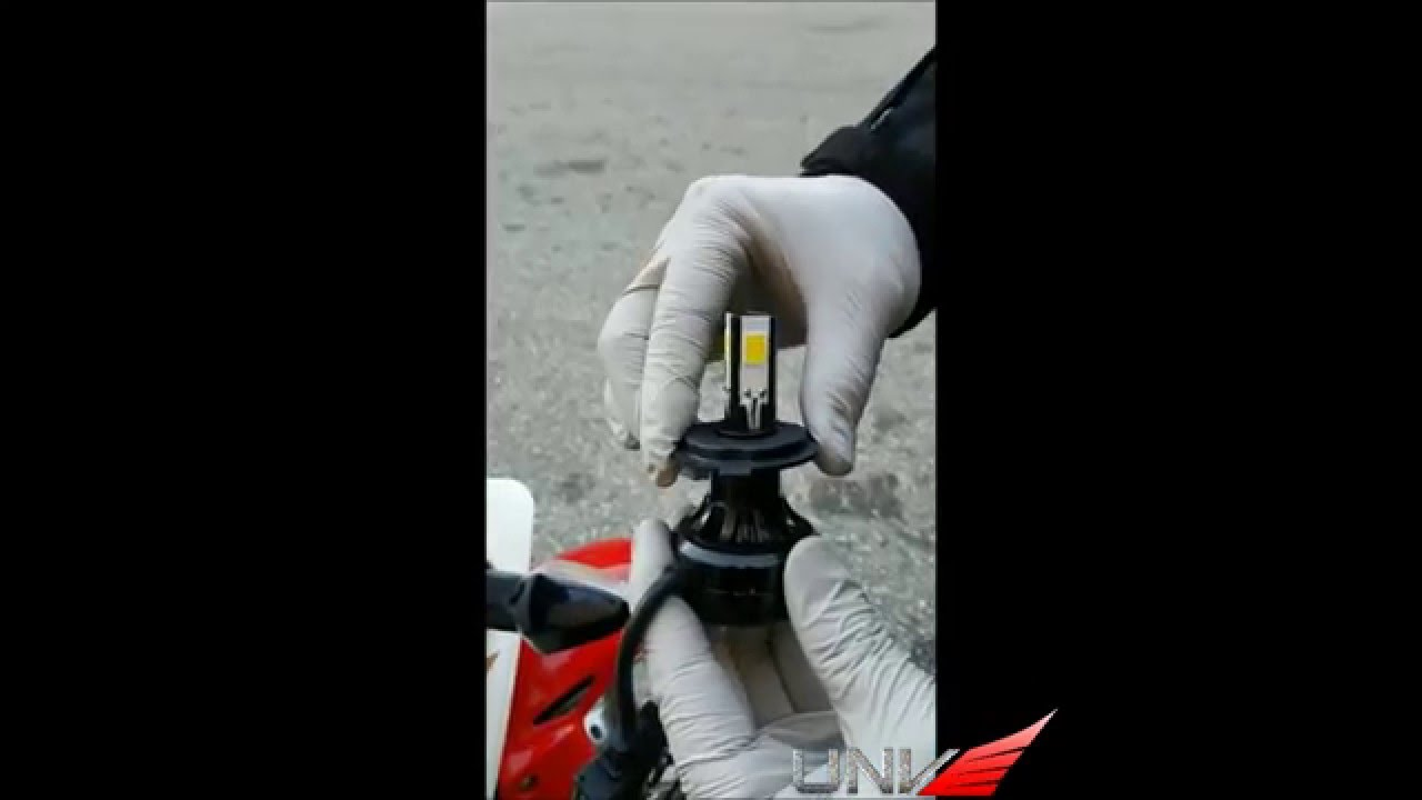 Installation at the head with led lighting - How To H4 Stark Led Head Lights Install On 2012 Honda Cbr 250r Youtube