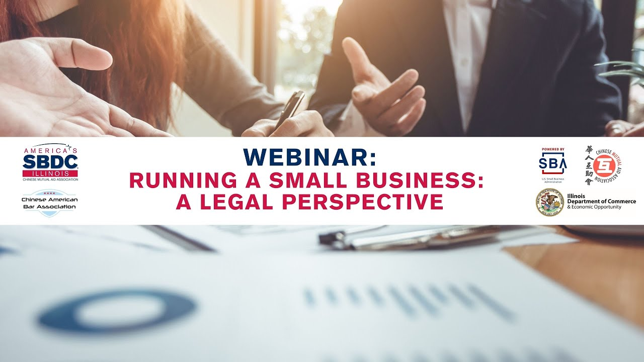 WEBINAR: Running a Small Business, A Legal Perspective