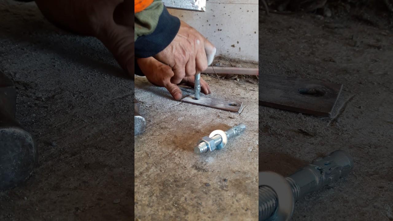 Como instalar pernos de expansion o anclaje en el cemento - Como se echa un piso de cemento ...