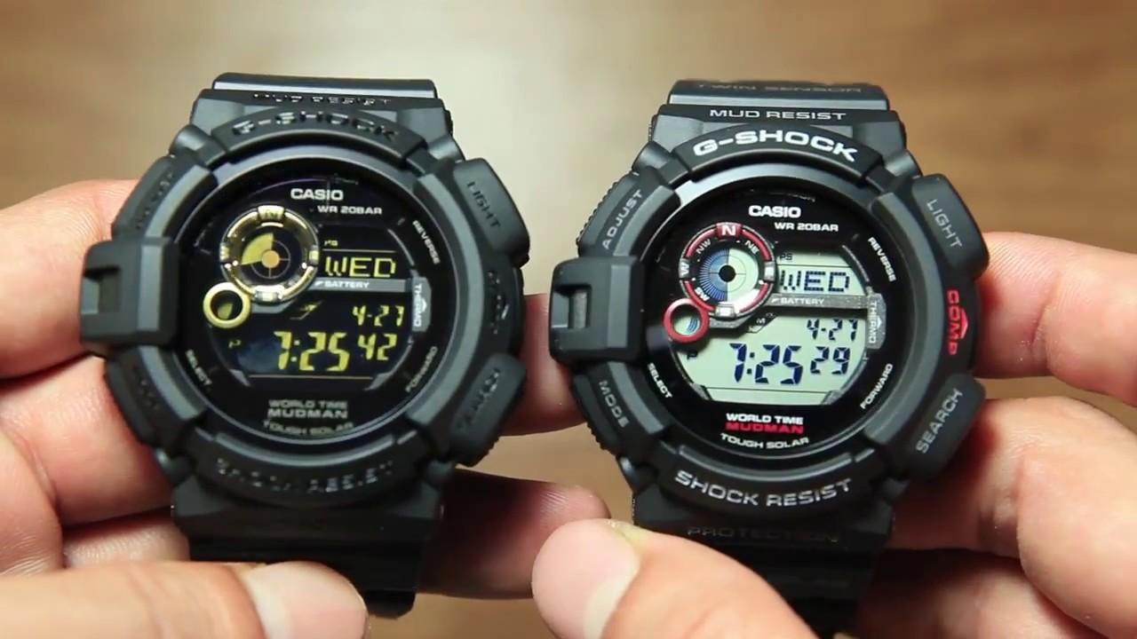 Casio Mudman G-9300GB-1 VS Mudman G-9300-1 - YouTube 72f64a8cbf33