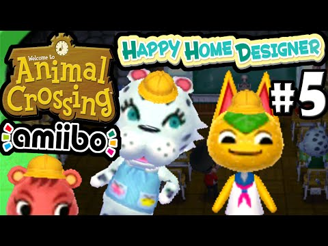 Animal Crossing Happy Home Designer PART 5 Gameplay Walkthrough (DAY 7 School Visit & Carrie) 3DS