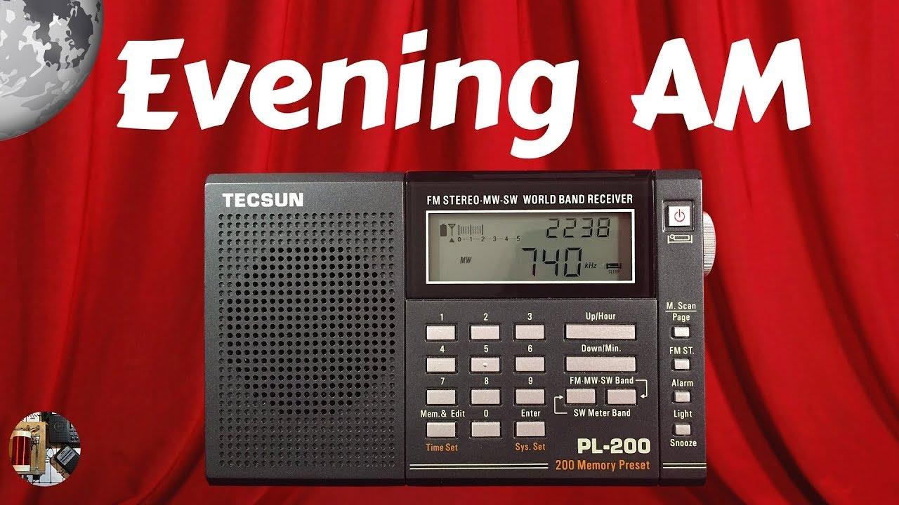 Tecsun PL-200 Shortwave Radio Evening AM
