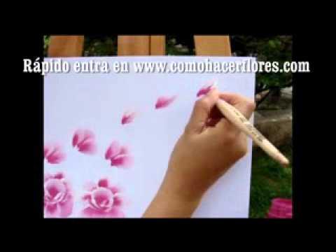 Como pintar flores aprender a pintar em minutos para - Aprender a pintar en madera ...
