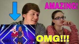 darci lynne 12 year old singing ventriloquist gets golden buzzer americas got talent 2017 reaction