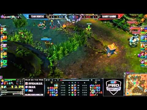 Gambit Gaming vs Team Dignitas Game1  International Exhibition  MLG Dallas 2013
