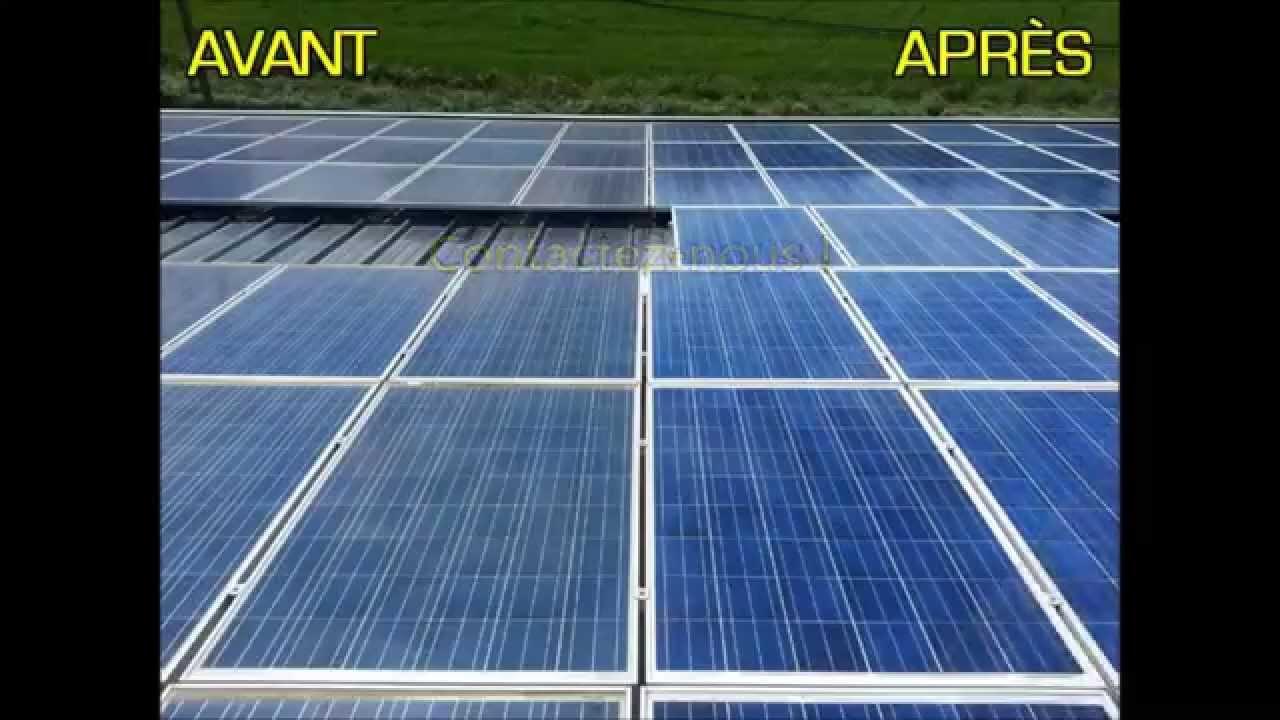 nettoyage panneaux photovolta ques professionels solar service youtube. Black Bedroom Furniture Sets. Home Design Ideas