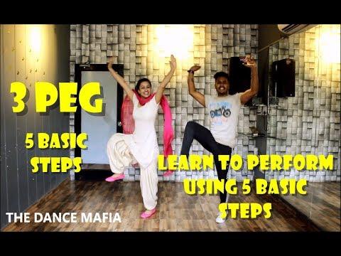 Learn Bhangra on 3 Peg with 5 Basic Steps | 5 Basic Steps | 3 Peg | wedding dance ,easy Bhangra