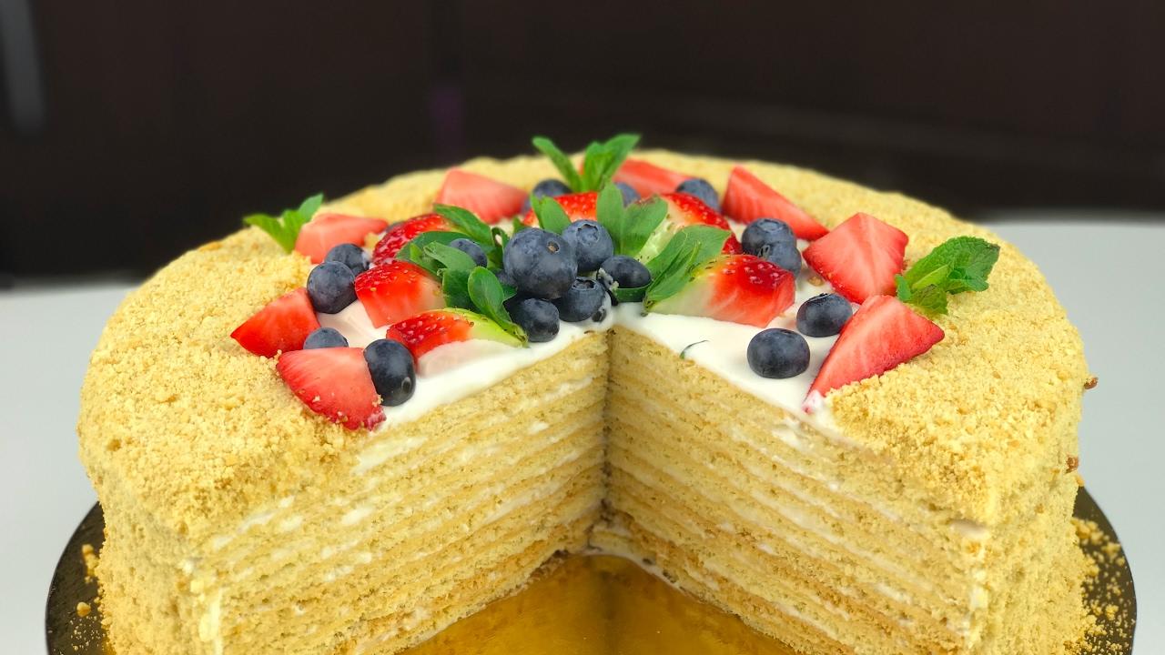 Медовый торт с маскарпоне