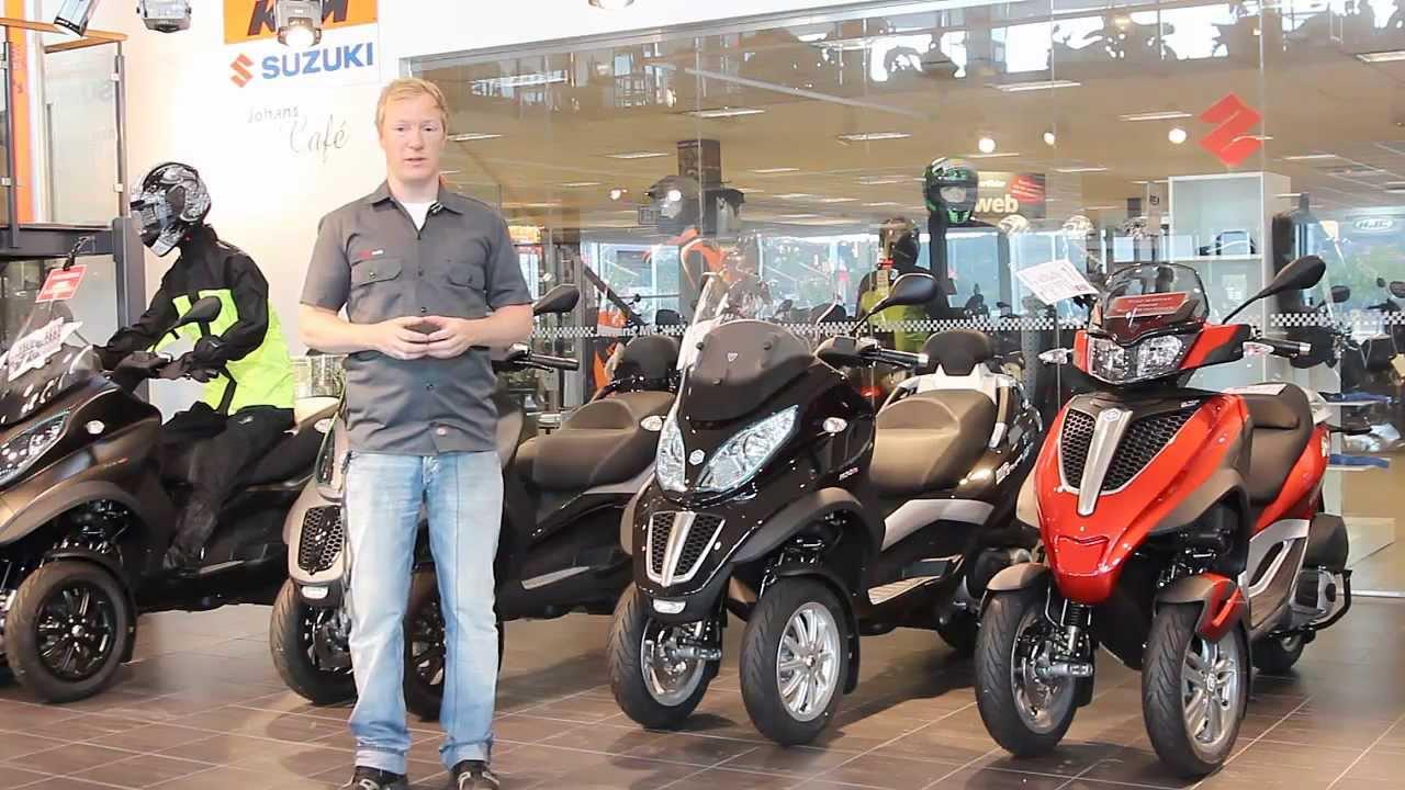 piaggio mp3 500 scooter som du f r k ra p b kort demo och test k rning youtube. Black Bedroom Furniture Sets. Home Design Ideas
