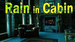 🎧 Rain in Cabin & Crackling Fireplace | Sleep, Study & Relax, Ambient Noise, @Ultizzz day#43