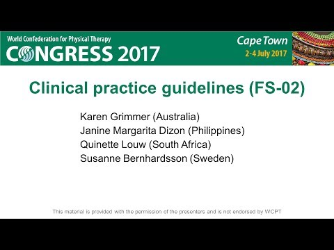 WCPT2017: Clinical practice guidelines (FS-02)