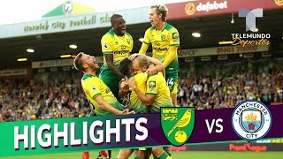 Norwich City Vs. Manchester City: 3-2 Goals & Highlights | Premier League | Telemundo Deportes