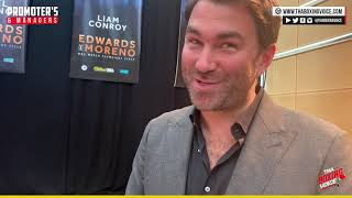 🔥EDDIE HEARN; YOU CAN'T SAY ONE NAME ONE FACE AND THEN NOT TAKE THE FIGHT