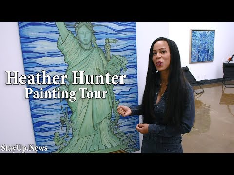Former Adult Film Actress and Artist Heather Hunter Gives a Tour of Her Paintings.