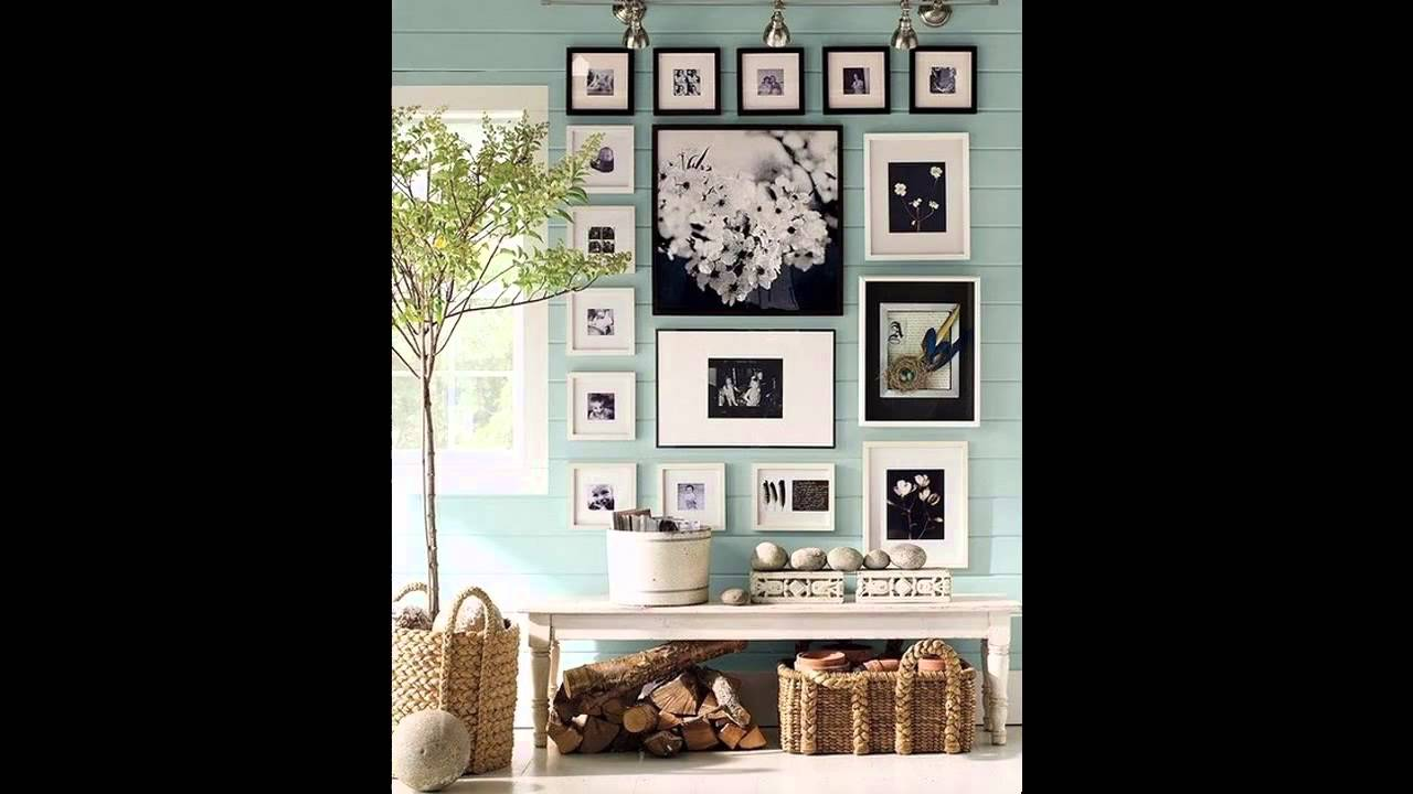 Wall picture frame arrangement ideas - YouTube