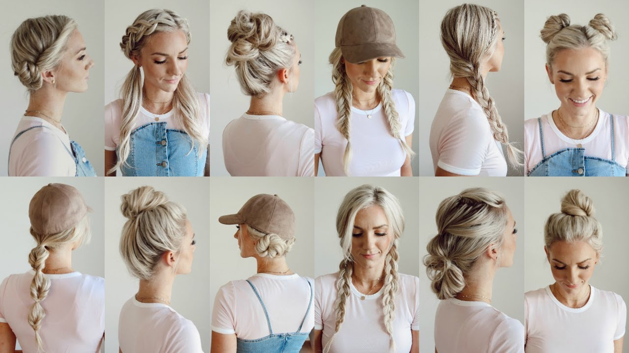 12 easy gym/workout hairstyles/everyday
