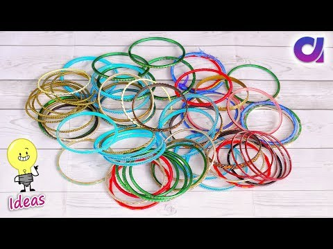 How to reuse old bangles at home | Best out of waste | Artkala 457