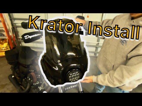 Krator Fairing Install (JD Customs/MoonsMC Headlight Block)