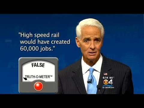 PolitiFact Florida: Fact-Checking Claims On High Speed Rail Line