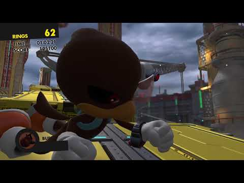 Sonic Forces (PS4): Stage 2 - Space Port (Chemical Plant) - S-Rank