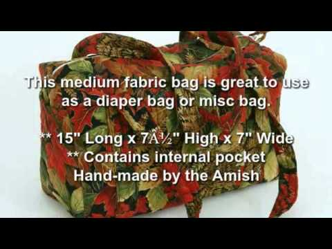Large and Medium Bag | Quilted Fabric Bag by Amish Selections LLC