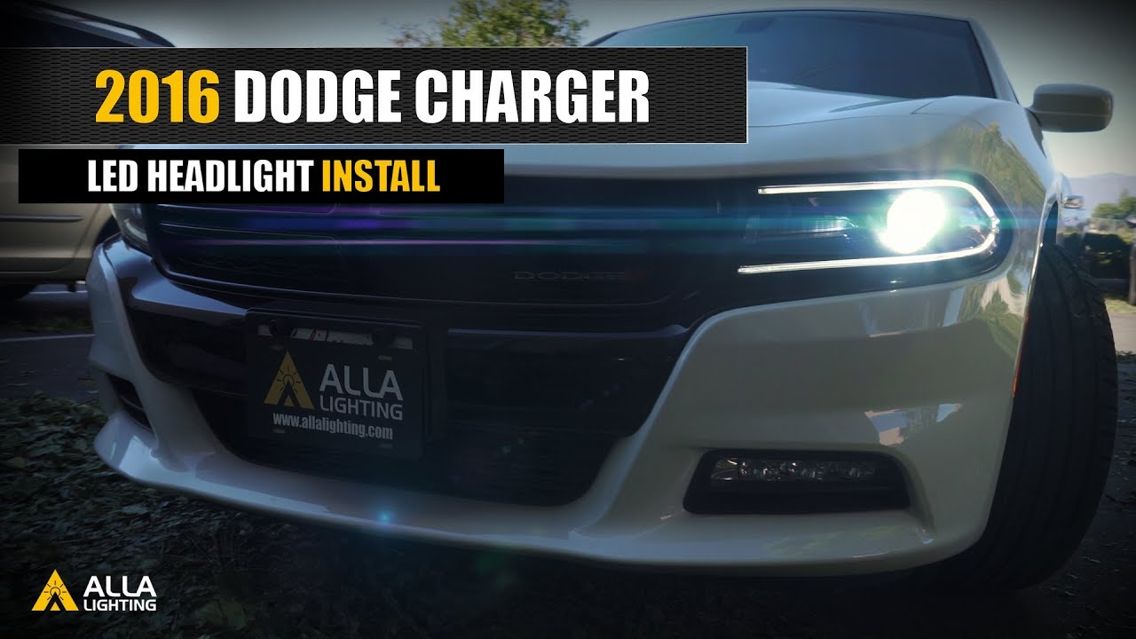How To Replace Upgrade 2016 2019 Dodge Charger Led Headlight Bulbs