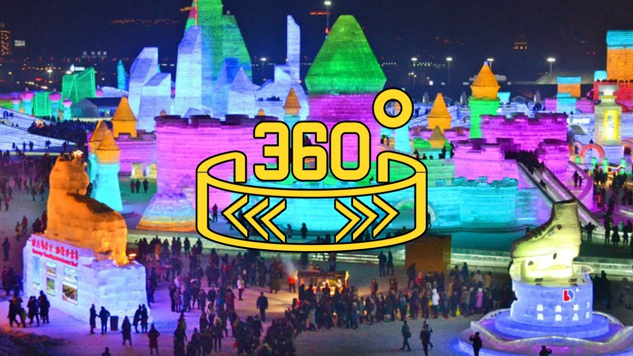 China Harbin Ice Festival 2017 Vídeo en 360º