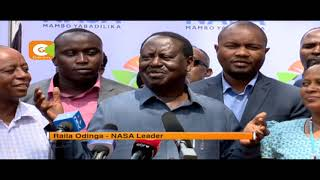 Raila Odinga refutes claims he is planning to withdraw candidature