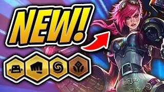 New TFT Champion Vi - 6 BRAWLERS SYNERGY Team! | Teamfight Tactics | League of Legends Auto Chess
