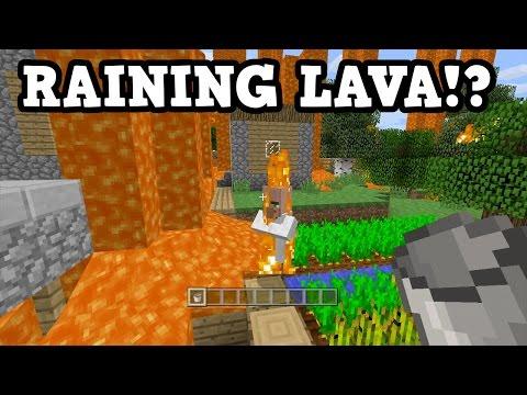 Minecraft Xbox - LAVA RAIN CHALLENGE LIVE