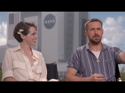 FIRST MAN s  Ryan Gosling, Claire Foy, Damien Chazelle, Mark and Rick Armstrong