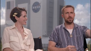 FIRST MAN interviews - Ryan Gosling, Claire Foy, Damien Chazelle, Mark and Rick Armstrong