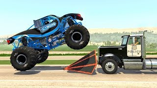 Crazy Police Chases #68 - BeamNG Drive Crashes