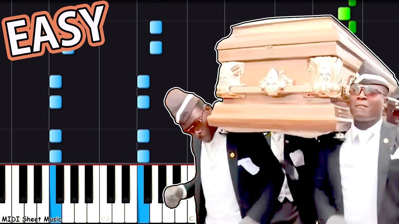 Astronomia Meme Coffin Dance Meme Easy Piano Tutorial Youtube
