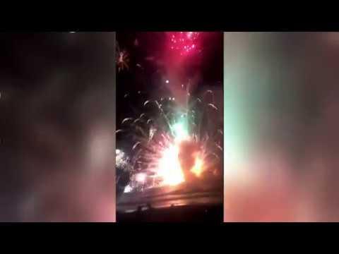 Fireworks barge explodes in Australia