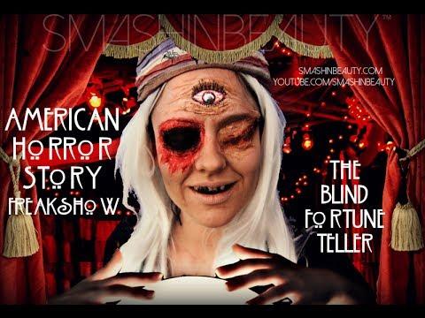 AHS Freak Show: DIY Blind Fortune Teller Makeup FX for