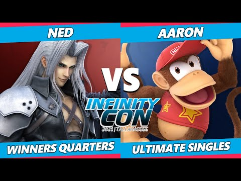 Infinity Con 2021 Winners Quarters - Ned (Sephiroth) Vs. Aaron (Diddy Kong) SSBU Ultimate Tournament