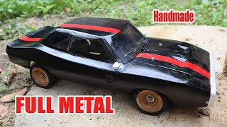 """How to build a """"Dodge Charger"""" RC Car from an iron plate."""