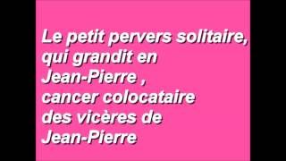 le petit pervers solitaire - Giedrè - Paroles