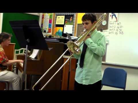 Gabriel Schmidt NEIBA Band Festival Vinton Shellsburg Middle School Solo May 22, 2014