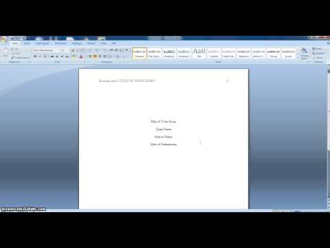 How to Format Your Essay in APA Style