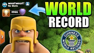 YOU WON'T BELIEVE THIS STRANGE PLAYER WORLD RECORD | Clash Of Clans |
