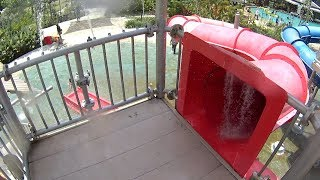 Red Tube Water Slide at Jogja Bay Waterpark
