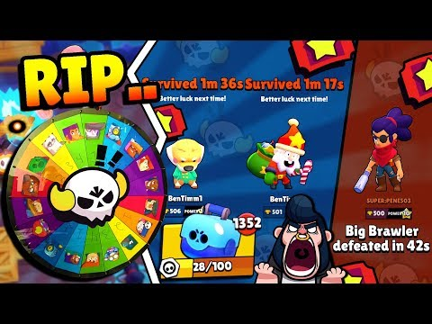 RANDOM BIG GAME BRAWLERS GONE WRONG-ISH!!? WEIRD BOSSES BUT SO MANY BOXES IN BRAWL STARS!