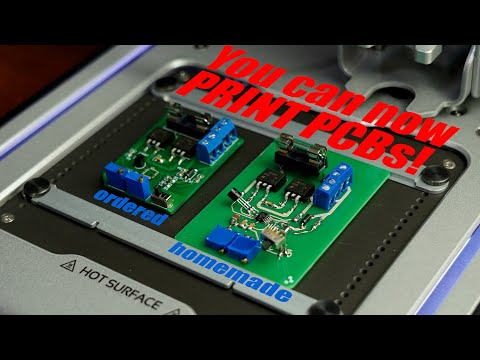 You can now PRINT PCBs! Creating a homemade PCB with the Voltera V-One PCB Printer!